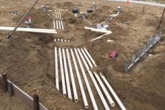 Oakvale Farm plumbing groundwork 2