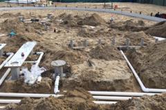 Oakvale Farm plumbing groundwork 6